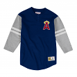 "California Angels Mitchell & Ness MLB Men's ""Team Logo"" 3/4 Sleeve Henley Shirt"
