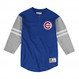 "Chicago Cubs Mitchell & Ness MLB Men's ""Team Logo"" 3/4 Sleeve Henley Shirt"