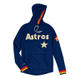 "Houston Astros Mitchell & Ness MLB Men's ""Leader"" Lightweight Hooded Shirt"