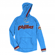 Philadelphia Phillies Mitchell & Ness Leader Lightweight Hooded Blue Shirt