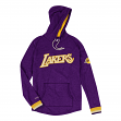 """Los Angeles Lakers Mitchell & Ness NBA """"Leader"""" Lightweight Hooded Shirt"""