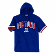 Detroit Pistons Mitchell & Ness NBA Men's Drills Short Sleeve Hooded Sweatshirt