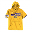"Los Angeles Lakers Mitchell & Ness NBA ""Drills"" Short Sleeve Hooded Sweatshirt"