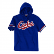 "Chicago Cubs Mitchell & Ness MLB Men's ""Drills"" Short Sleeve Hooded Sweatshirt"