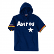 "Houston Astros Mitchell & Ness MLB Men's ""Drills"" Short Sleeve Hooded Sweatshirt"