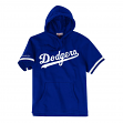 "Los Angeles Dodgers Mitchell & Ness MLB ""Drills"" Short Sleeve Hooded Sweatshirt"