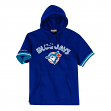 "Toronto Blue Jays Mitchell & Ness MLB ""Drills"" Short Sleeve Hooded Sweatshirt"
