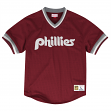 "Philadelphia Phillies Mitchell & Ness MLB Men's ""Dinger"" Mesh Jersey Shirt - Red"