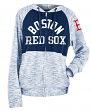 "Boston Red Sox Women's New Era MLB ""Roundtrip"" Full Zip Hooded Sweatshirt"