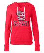 "St. Louis Cardinals Women's New Era MLB ""Triple"" Tri-Blend Hooded Shirt"
