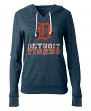 "Detroit Tigers Women's New Era MLB ""Triple"" Tri-Blend Hooded Shirt"