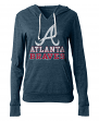 "Atlanta Braves Women's New Era MLB ""Triple"" Tri-Blend Hooded Shirt"