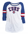 "Chicago Cubs Women's New Era MLB ""Baseball"" 3/4 Sleeve Raglan Shirt"
