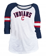 "Cleveland Indians Women's New Era MLB ""Baseball"" 3/4 Sleeve Raglan Shirt"