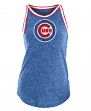 "Chicago Cubs Women's New Era MLB ""Curveball"" Tri-Blend Tank Top"