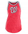 "Washington Nationals Women's New Era MLB ""Curveball"" Tri-Blend Tank Top"