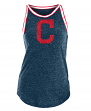 "Cleveland Indians Women's New Era MLB ""Curveball"" Tri-Blend Tank Top"