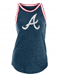 "Atlanta Braves Women's New Era MLB ""Curveball"" Tri-Blend Tank Top"