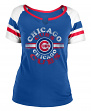 "Chicago Cubs Women's New Era MLB ""Line Drive"" Short Sleeve Fashion Shirt"