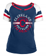 "Cleveland Indians Women's New Era MLB ""Line Drive"" Short Sleeve Fashion Shirt"