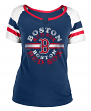 "Boston Red Sox Women's New Era MLB ""Line Drive"" Short Sleeve Fashion Shirt"