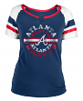 "Atlanta Braves Women's New Era MLB ""Line Drive"" Short Sleeve Fashion Shirt"