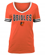 "Baltimore Orioles Women's New Era MLB ""Ballgame"" V-Neck Short Sleeve Shirt"