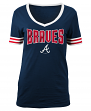 "Atlanta Braves Women's New Era MLB ""Ballgame"" V-Neck Short Sleeve Shirt"