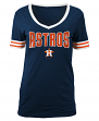 "Houston Astros Women's New Era MLB ""Ballgame"" V-Neck Short Sleeve Shirt"