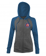 "Chicago Cubs Women's New Era MLB ""Double"" Tri-Blend Hooded Sweatshirt"
