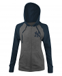 "New York Yankees Women's New Era MLB ""Double"" Tri-Blend Hooded Sweatshirt"