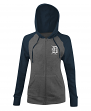 "Detroit Tigers Women's New Era MLB ""Double"" Tri-Blend Hooded Sweatshirt"