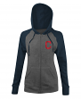 "Cleveland Indians Women's New Era MLB ""Double"" Tri-Blend Hooded Sweatshirt"