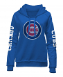 "Chicago Cubs Women's New Era MLB ""Home Run"" Pullover Hooded Sweatshirt"