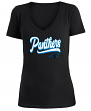 "Carolina Panthers Women's New Era NFL ""Sweep"" V-Neck Short Sleeve Shirt"