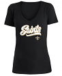 "New Orleans Saints Women's New Era NFL ""Sweep"" V-Neck Short Sleeve Shirt"