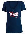 "Houston Texans Women's New Era NFL ""Sweep"" V-Neck Short Sleeve Shirt"